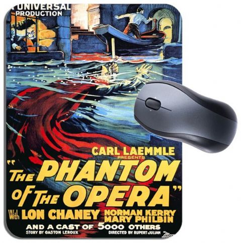 Vintage Phantom of the Opera Movie Poster Mouse Mat. High Quality Film Mouse Pad